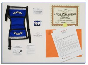 Canadian Service Dog Canada ID Package